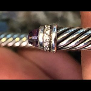 David Yurman amethyst and diamond cable classic